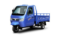 three wheel motor tricycle with closed cabin for cargo