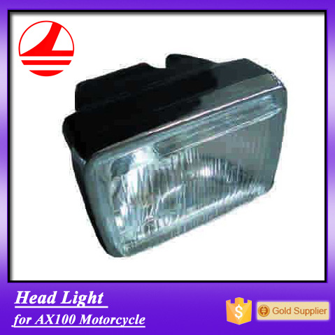 China Factory AX100 spare parts motorcycle headlight