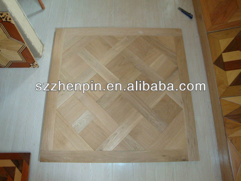 Solid Oak wood versailles art parquet flooring