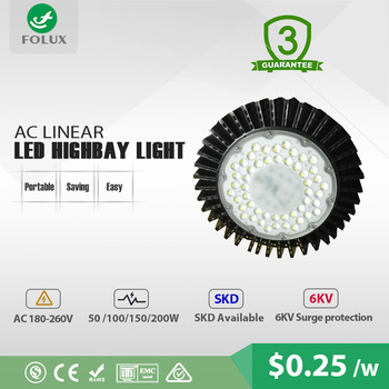150W ufo high bay light with driverless CE certificate