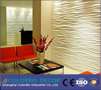 MDF Wall board /3d wave panel For Home Decoration