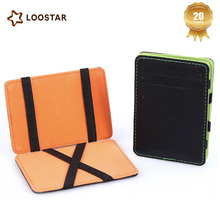 AQU028 Simple Design Card Holder Wallet with Elastic Strap