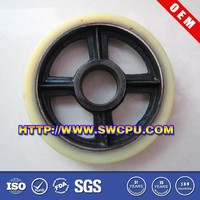 New products customized polyurethane coated rubber v groove wheel