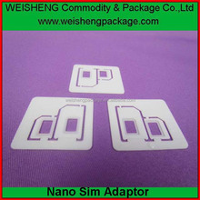 2016 Excellent quality Dual nano sim card adapter sim card holder sim card converter