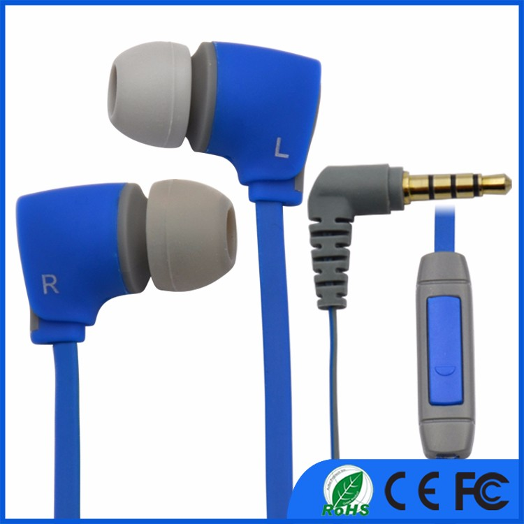 3.5mm plug earphone headphone OEM cheap in-ear plastic earphone wired earphone for Mp3,Mp4, mobile phone