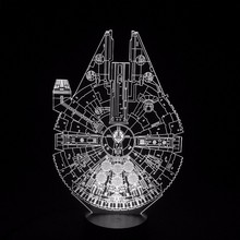 3D lamp Decor gift set 3D light Millennium Falcon Lighting Colorful Gradient Atmosphere Table Lamp Night