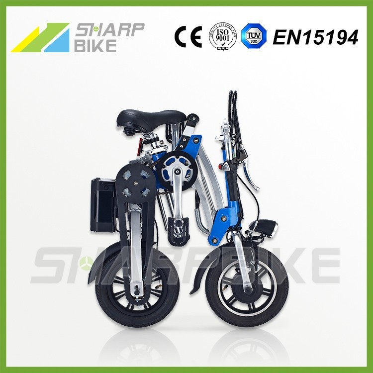 2015 New style cheap 12 inch mini fast folding electric motorcycle for adults