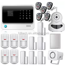 touch screen keypad LCD display WIFI GSM alarm IOS Android APP Wireless Home Burglar Security Alarm System