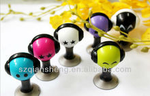 For iPhone Headphone earphone Splitter, funny mini headphone splitter