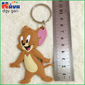 China factory made 3d rubber keychain pom