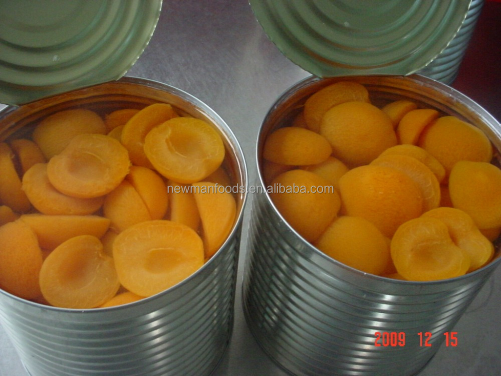 Hot selling 3 kgs golden sun variety Choice grade canned apricot passion fruit in syrup
