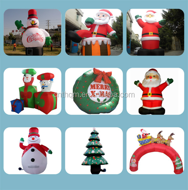 Fashion best sell lovely inflatable christmas cartoon