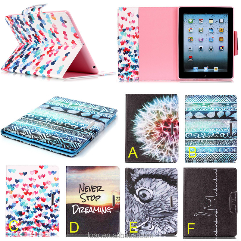 Printed Vintage Design For Ipad Air 2 Pu Case Tablet Cover For ipad mini 1 2 3