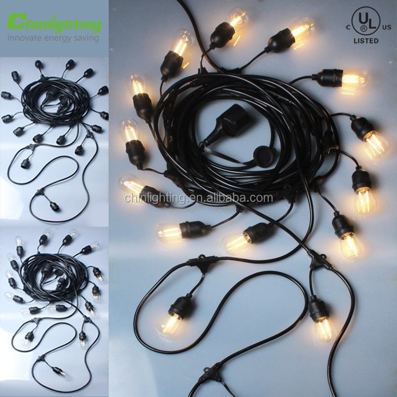 High quality outdoor decorations S14 E26 led light string with led bulbs