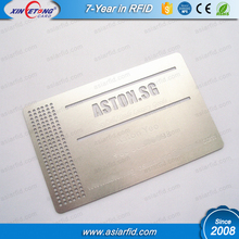 Cut Out Engraved Metal Business Card Stainess Steel