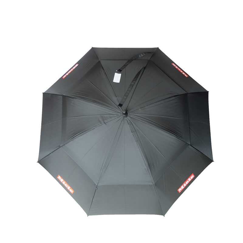 Windproof Advertising black double layer compact mens black stripe umbrella