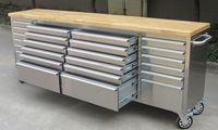 hyxion 96inch 24 Drawers Metal Tool Box, Metal Tool Trolley