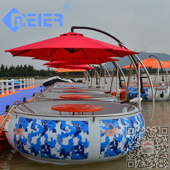 Small clear Popular electric Plastic boat with bbq grill