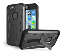 360 degrees Comprehensive protection design Armor Tank Case With Front Screen Protector With Holder 3-in-1 Case For iPhone6 6S