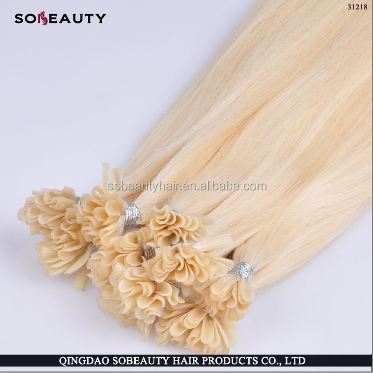 Wholesale Factory Price Top Grade 100% Brazilian Remy U Tip/Nail Tip Hair Extension