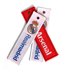 China Wholesale 3D Custom Logo Brand Name Embroidery Tag Promotional Key Chains