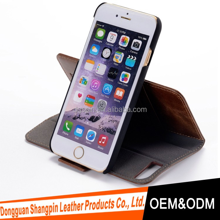 cell phone case with wallet design for iphone 7, oem custom factory for iphone 6 7 7 plus
