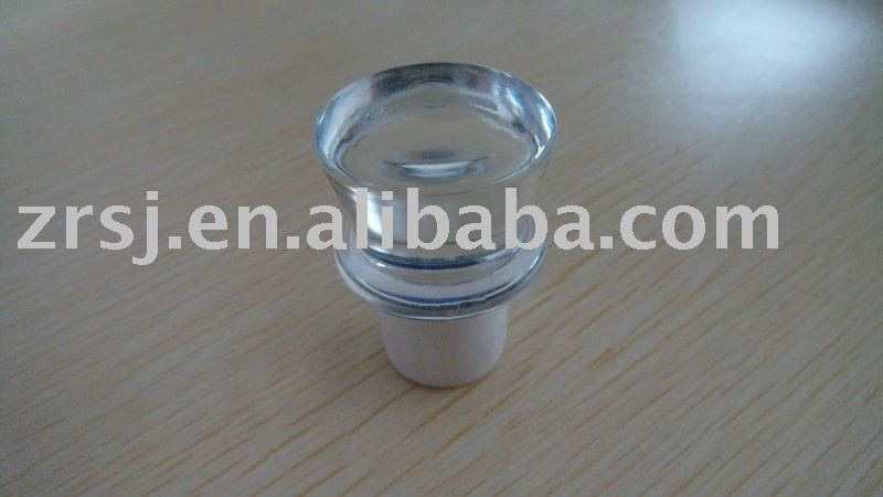 T-shaped plastic silicone hot fill closure stopper for wine bottle