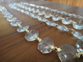 14MM CLEAR CRYSTAL PRISMS GLASS CHAIN CHANDELIER LAMP BEAD GARLAND NEW BOWTIE