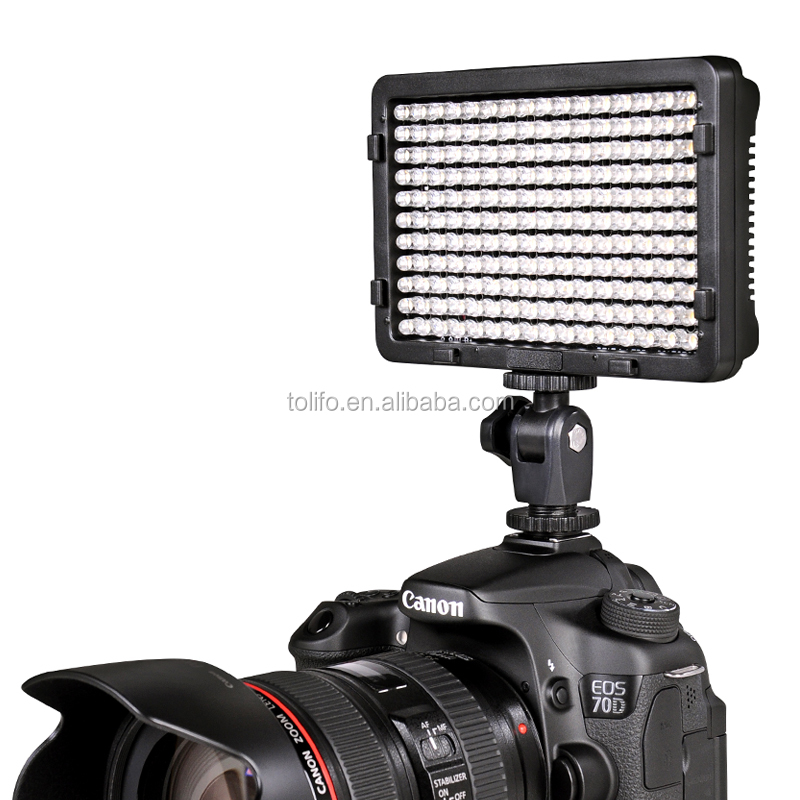 Tolifo Phantom 176 bright LEDs slim dimmable bi color 3200K-5600K photo video light led