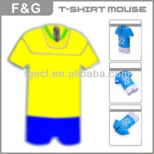T-shirt mouse for NBA and world cup gift and promotion