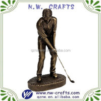 2012 new resin golf statue for business gift
