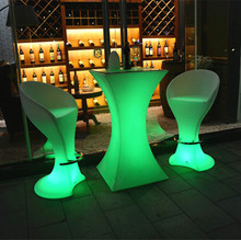 high table and chair furniture color change remote control led stool hot sale dragons mart in dubai funny bar stools