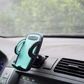Easy one touch car mount cellphone stand universal bracket mobile phone holder single clip car outlet smart phone holder