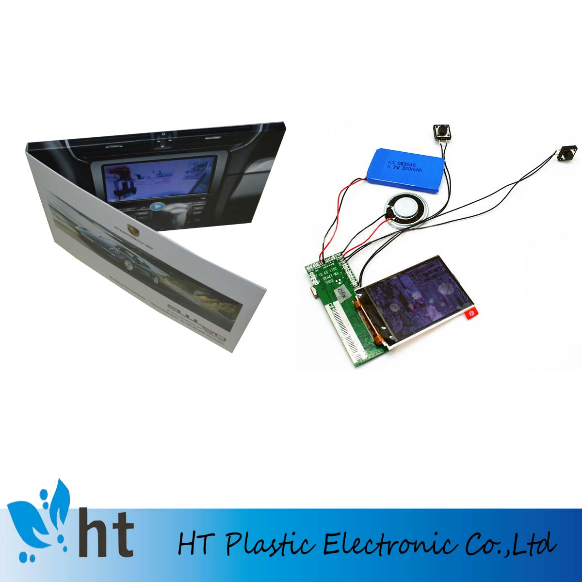 lcd video player brochure/video greeting card module