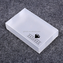 Customized different size logo printing transparent clear pvc box packaging