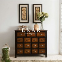 Multiple Drawers Boulle Furniture Triangle Drawer Cabinet Customized Luxury Wooden 2 Doors Cabinets With 3 Drawers