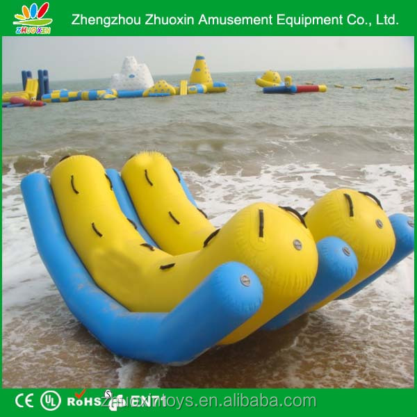 Sport Games banana water floating boat dult children inflatable catamaran teeter