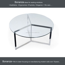 T-006# modern hot sell with round table with casters round tea table
