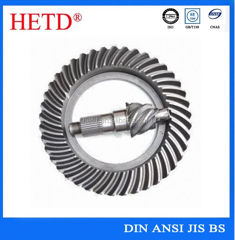 high quality hetd brand axle crown wheel bevel pinion <strong>gear</strong>