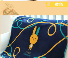 High Quality Fleece Applique Embroidery Baby Blanket