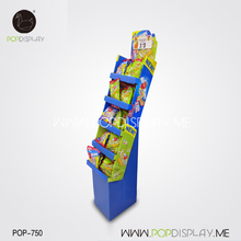 Best Selling Lithographic Printing Supermarket Snack Stand Pop Up Food Cardboard Floor Display Corrugated
