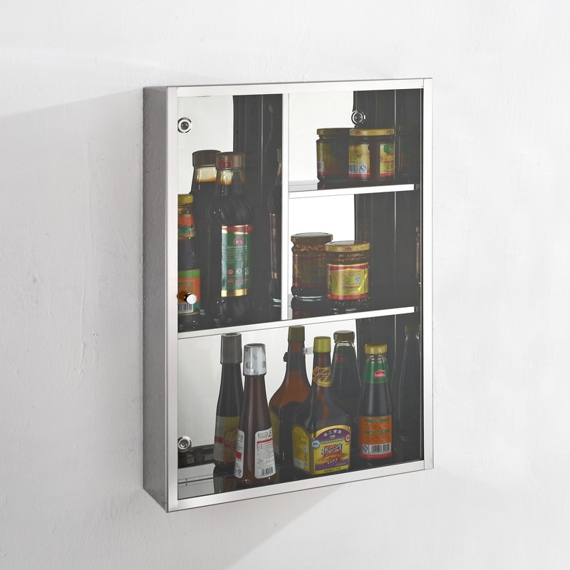Tempered glass wall hanging bath storage cabinet buy for Hanging bathroom cabinet