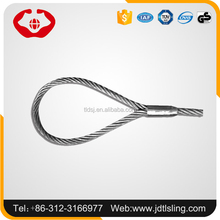 Galvanized steel wire rope sling for crane lifting