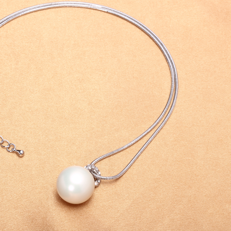 Exquisite Pearl Pendant Necklace 925 Sterling Silver Necklace Jewelry Cheap