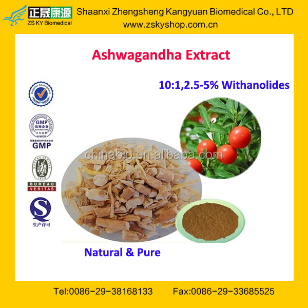 GMP Factory Supply High Quality Ashwagandha Extract Powder