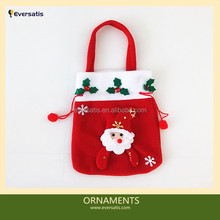 popular cotton foldable christmas gift bag for shopping for decoration