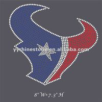 Texans rhinestone heat transfers wholesale iron on rhinestone transfer