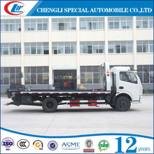 Breakdown Recovery Truck with 5tons crane wrecker tow truck, 2 axles flat road removal 6 wheels truck wrecker