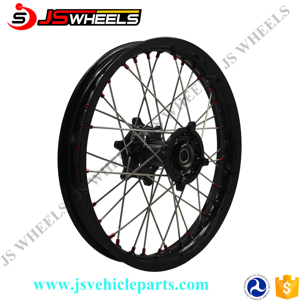 Motocross Parts Black Color CRF 250 450 CR 250 450 Assembly Alloy Wheels