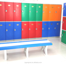 Modern design changing room plastic clothes storage cabinet
